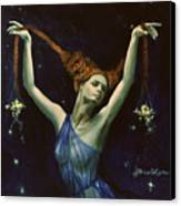 Libra From Zodiac Series Canvas Print by Dorina  Costras