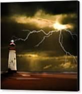 Lightning Storm Canvas Print by Meirion Matthias