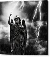 Lightning Strikes The Angel Gabriel Canvas Print by Amanda And Christopher Elwell