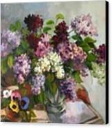 Lilacs And Pansies Canvas Print by Tigran Ghulyan