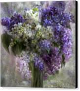 Lilacs Of Love Canvas Print by Carol Cavalaris