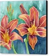Lilies Canvas Print by Eleonora Perlic