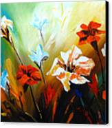 Lily In Bloom Canvas Print by Uma Devi