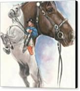 Lippizaner Canvas Print by Barbara Keith