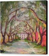 Litchfield Carriage House Canvas Print by Cecelia Campbell