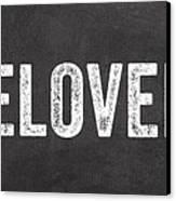 Live Love Bake Canvas Print by Linda Woods