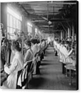 Lock And Drill Department Assembly Line Canvas Print by Everett