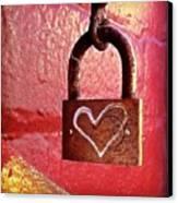Lock/heart Canvas Print by Julie Gebhardt