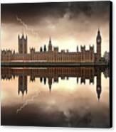 London - The Houses Of Parliament  Canvas Print by Jaroslaw Grudzinski