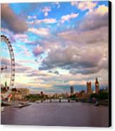 London Eye Evening Canvas Print by Kapuk Dodds