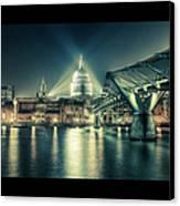 London Landmarks By Night Canvas Print by Araminta Studio - Didier Kobi