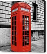 London Phone Booth Canvas Print by Rhianna Wurman