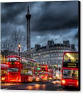 London Red Buses Canvas Print by Jasna Buncic