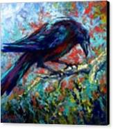 Lone Raven Canvas Print by Marion Rose