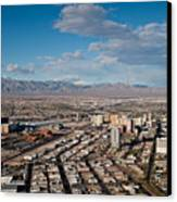 Looking Over Downtown Canvas Print by Andy Smy