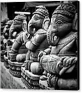 Lord Ganesha Canvas Print by Abhishek Singh & illuminati visuals
