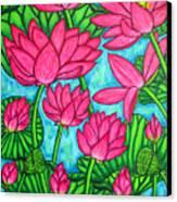 Lotus Bliss Canvas Print by Lisa  Lorenz