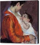 Louise Nursing Her Child Canvas Print by Marry Cassatt