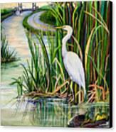 Louisiana Wetlands Canvas Print by Elaine Hodges
