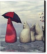 Lousy Weather Canvas Print by Jutta Maria Pusl
