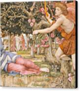 Love And The Maiden Canvas Print by JRS Stanhope