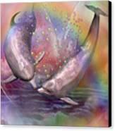 Love Bubbles Canvas Print by Carol Cavalaris