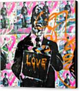 Love Chaplin Canvas Print by Darren Scicluna