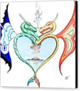 Love Dragons Canvas Print by Robert Ball