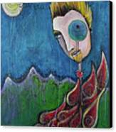 Love For Birdman Canvas Print by Laurie Maves ART