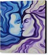 Lovers In Eternal Kiss Canvas Print by Jindra Noewi