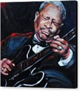 Lovin Lucille B B King Canvas Print by Carole Foret