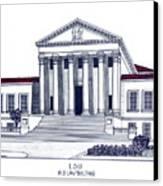 Lsu Old Law Building Canvas Print by Frederic Kohli