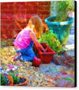 Lucys English Garden Canvas Print by Marilyn Sholin