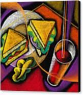 Lunch Canvas Print by Leon Zernitsky