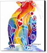 Luv Cat Canvas Print by Jo Lynch
