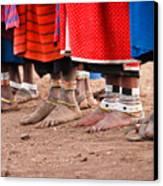 Maasai Feet Canvas Print by Adam Romanowicz