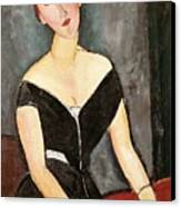 Madame G Van Muyden Canvas Print by Amedeo Modigliani