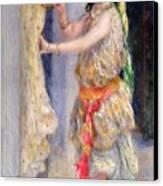 Mademoiselle Fleury In Algerian Costume Canvas Print by Pierre Auguste Renoir