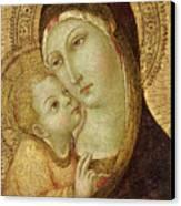 Madonna And Child Canvas Print by Ansano di Pietro di Mencio