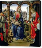 Madonna And Child Canvas Print by Filippino Lippi