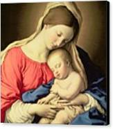 Madonna And Child Canvas Print by Il Sassoferrato