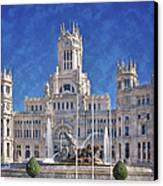 Madrid City Hall Canvas Print by Joan Carroll