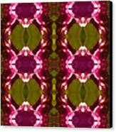 Magenta Crystal Pattern Canvas Print by Amy Vangsgard