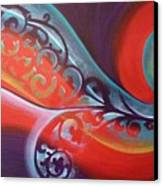 Magical Wave Fire Canvas Print by Reina Cottier