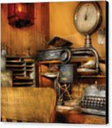 Mailman - In The Office Canvas Print by Mike Savad