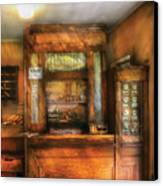 Mailman - The Post Office Canvas Print by Mike Savad