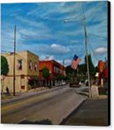 Main Street Clayton Nc Canvas Print by Doug Strickland
