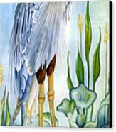 Majestic Blue Heron Canvas Print by Lyse Anthony