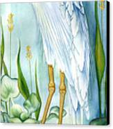 Majestic White Heron Canvas Print by Lyse Anthony