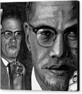 Malcolm X Canvas Print by Gil Fong